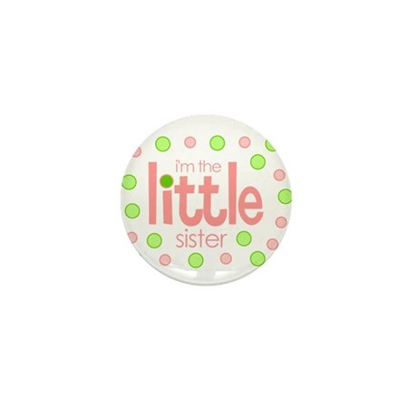little sister t-shirt polkadot Mini Button