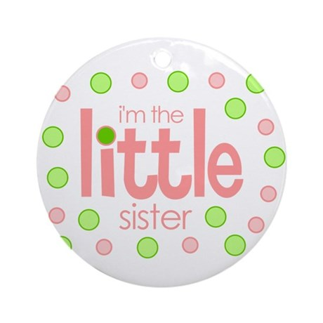 little sister t-shirt polkadot Ornament (Round)
