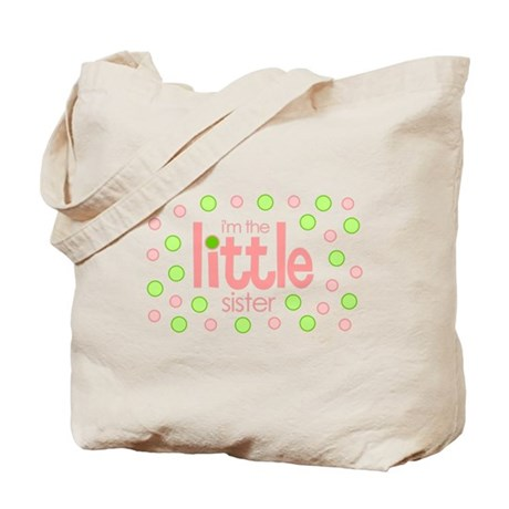 little sister t-shirt polkadot Tote Bag