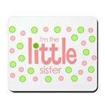 little sister t-shirt polkadot Mousepad
