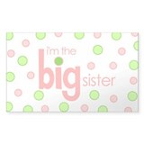 big sister t-shirt polkadot Rectangle Decal