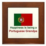 Happy Portuguese Grandpa Framed Tile