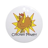 Chicken Power Ornament (Round)