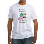 """Save A Planet"" Fitted T-Shirt"