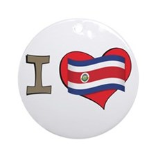 I heart Costa Rica Ornament (Round)
