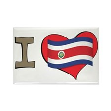 I heart Costa Rica Rectangle Magnet (10 pack)