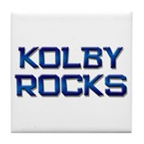 kolby rocks Tile Coaster