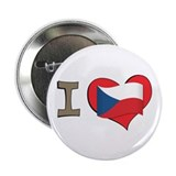 "I heart Czech 2.25"" Button (10 pack)"