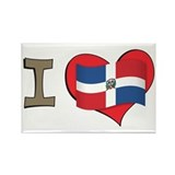 I heart Dominican Republic Rectangle Magnet