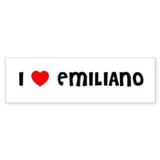 I LOVE EMILIANO Bumper Bumper Sticker