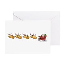 Sleigh & Braindeer Greeting Cards (Pk of 10)
