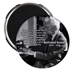 "Philosophy Bertrand Russell 2.25"" Magnet (10 pack)"