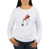 Women's Easter Flamingo Long Sleeve T-Shirt