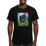 Broiler Opal Chicken Men's Fitted T-Shirt (dark)