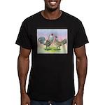 Ameraucana Chickens Pair Men's Fitted T-Shirt (dar
