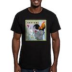 Bantam Chickens Men's Fitted T-Shirt (dark)