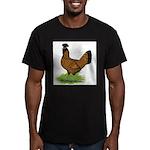 Gold Brabanter Hen Men's Fitted T-Shirt (dark)