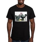 Dark Brahma Chickens Men's Fitted T-Shirt (dark)