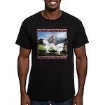 Framed Brahma Chickens Men's Fitted T-Shirt (dark)