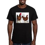 Red Broiler Pair Men's Fitted T-Shirt (dark)