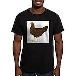 Partridge Chantecler Hen Men's Fitted T-Shirt (dar