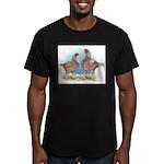 Cornish Chickens WLRed Men's Fitted T-Shirt (dark)