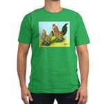 Mille Fleur Rooster & Hen Men's Fitted T-Shirt