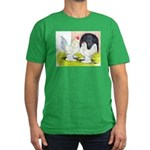 Porcelain d'Uccle Rooster and Men's Fitted T-Shirt