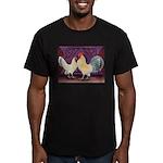 Dutch Bantam Pair2 Men's Fitted T-Shirt (dark)