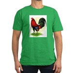 Red Gamecock2 Men's Fitted T-Shirt (dark)