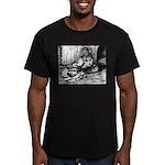Splash English Trumpeter Men's Fitted T-Shirt (dar