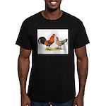 Red Junglefowl Men's Fitted T-Shirt (dark)