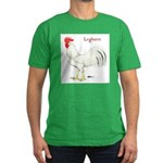 Leghorn White Rooster Men's Fitted T-Shirt (dark)