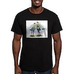 Lemon Blue Moderns Men's Fitted T-Shirt (dark)