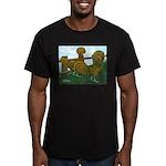 Golden Polish Chickens Men's Fitted T-Shirt (dark)