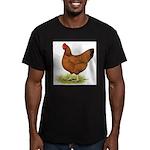 Red Hen Men's Fitted T-Shirt (dark)