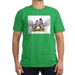Silver Sebright Bantams Men's Fitted T-Shirt (dark