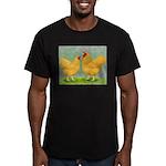 Buff Wyandottes Men's Fitted T-Shirt (dark)