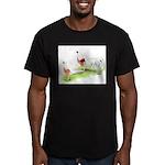 Yokohama Chickens Men's Fitted T-Shirt (dark)