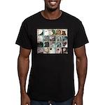 Twenty Pigeon Heads Men's Fitted T-Shirt (dark)