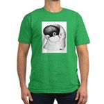 Helmet Shortface Pigeon Men's Fitted T-Shirt (dark