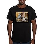 Domestic Flight Pigeons Men's Fitted T-Shirt (dark