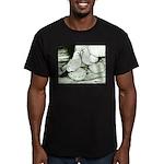 Ice Pigeons Men's Fitted T-Shirt (dark)