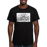 Shortface Tumbler Pigeons Men's Fitted T-Shirt (da