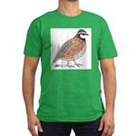 Bobwhite Cock Men's Fitted T-Shirt (dark)