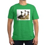 Crested Ducks Trio Men's Fitted T-Shirt (dark)