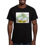 Embden Goose Pair Men's Fitted T-Shirt (dark)
