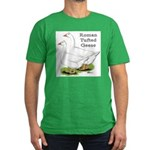 Roman Tufted Geese Men's Fitted T-Shirt (dark)