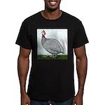 Lavendar Guinea Men's Fitted T-Shirt (dark)