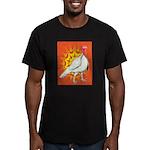 Sunburst White Turkey Men's Fitted T-Shirt (dark)